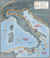 Italy Geology Faults