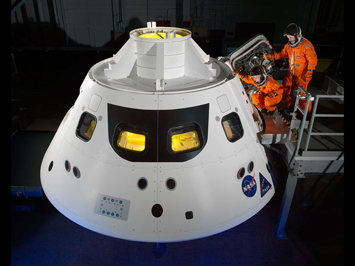 orion crew module step inside