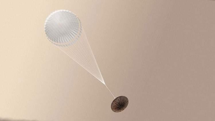 Schiaparelli with parachute deployed1024x576