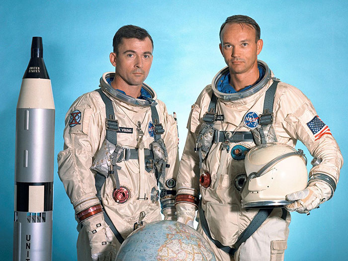 6 Gemini 10 flight crew John W. Young and Michael Collins