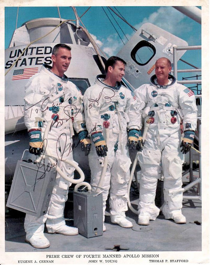 8 Apollo 10 crew signed