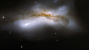 300px Hubble Interacting Galaxy NGC 520 2008 04 24