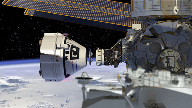 boeing starliner dock to iss co