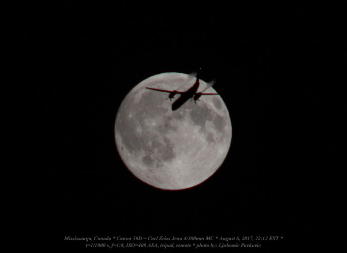 Ljubomir Pavkovic Moon and a plane C49 587