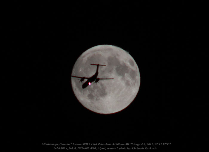 Ljubomir Pavkovic Moon and a plane C49 588