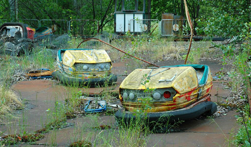 144 Pripyat amusement park cars 01